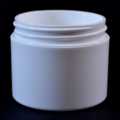 2 OZ 58/400 Double Wall Straight Base White PP Jar - 420/Case