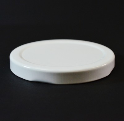 70MM RTD White Metal Cap / Plastisol Liner