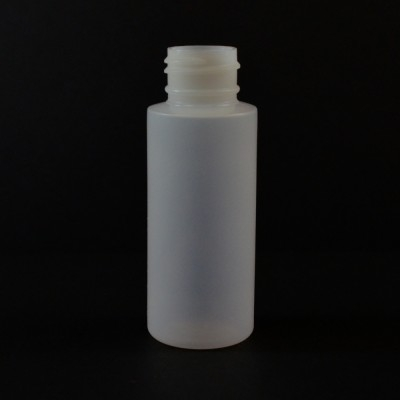2 oz 24/410 Cylinder Round Natural LDPE Bottle