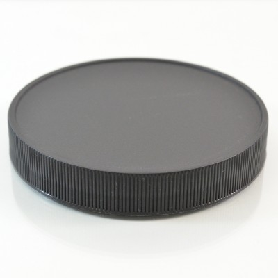 100/400 Black Ribbed Straight PP Cap / PS Liner - 256/Case