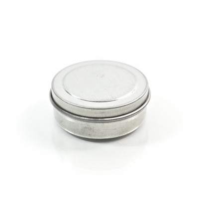 0.25 oz. Seamless Shallow Metal Straight Base Jar