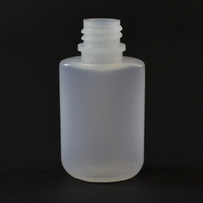 0.25 oz 13/415 W/R Drug Oval Natural HDPE Bottle