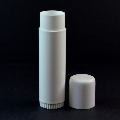 .50 oz White Classic Lip Balm Container, 3.72