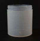 16 OZ 89/400 Thick Wall Straight Base Natural PP Jar - 60/Case