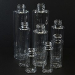 Cylinder Round Clear PET Bottles