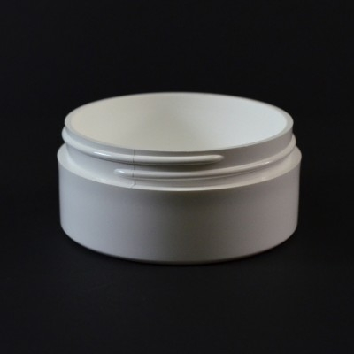 2 oz 70/400 White Thick Wall Straight Base PP Jar