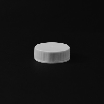 33/400 White Ribbed Straight PP Cap / PS Liner - 4000/Case
