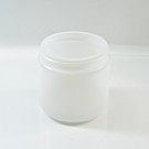 16 oz 89/400 Natural HDPE Wide Mouth Regular Wall Straight Sided Jar