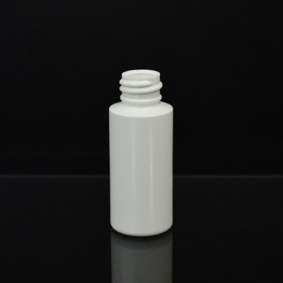 1 oz 20/410 Cylinder Round White LDPE Bottle