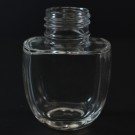 30 ml 24/410 Vogue Oval Clear Glass Bottle