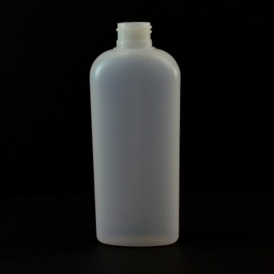 6 oz 24/410 Classic Oval Natural HDPE Bottle
