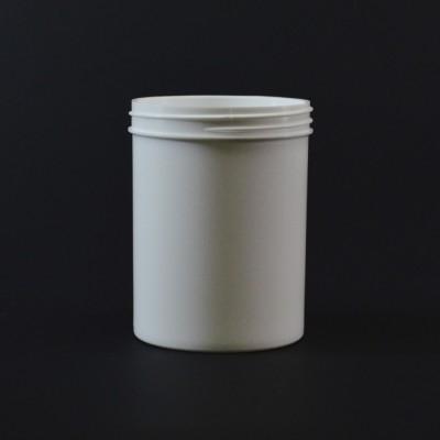 8 oz 70/400 Regular Wall Straight Base White PP Jar