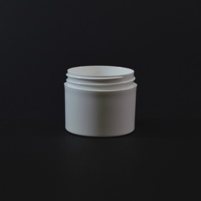 2 oz 53/400 White Thick Wall Straight Base PP Jar