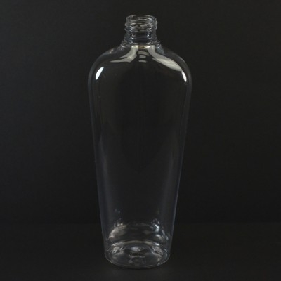 12 oz 24/410 Vail Oval Clear PET Bottle