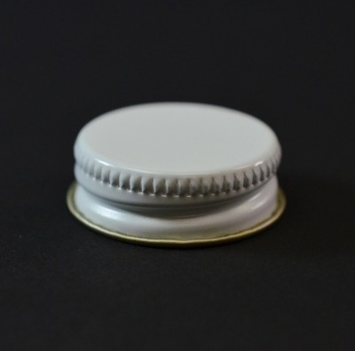 28/400 CT White Gold Metal Continuous Thread Caps