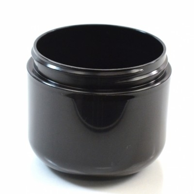4 oz 70/400 Double Wall Round Base Black PP Jar