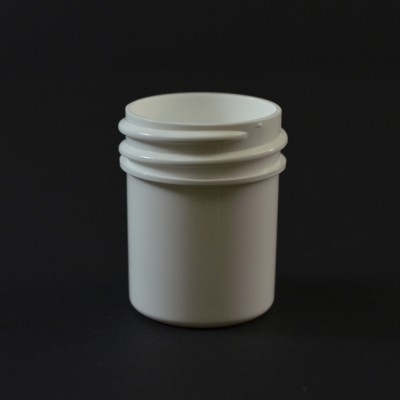 1/2 oz 33/400 Regular Wall Straight Base White PP Jar