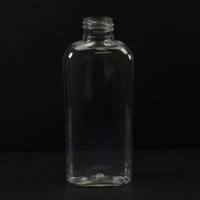 4 oz 24/410 Classic Oval Clear PET Bottle