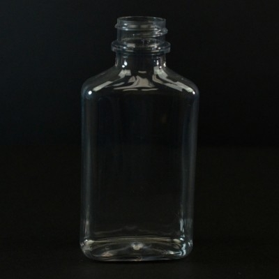 100 ml 24/400 Metric Oblong Clear PET Bottle