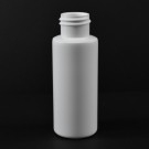 2 oz 24/410 Cylinder Round White HDPE Bottle