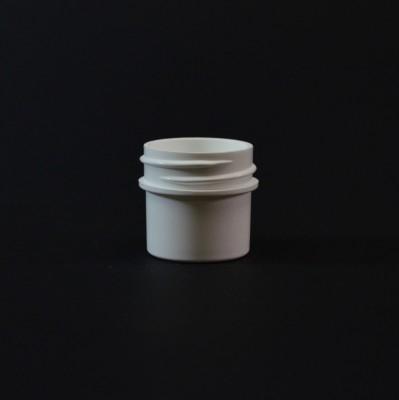 1/4 OZ 33/400 Regular Wall Straight Base White PP Jar - 1650/Case