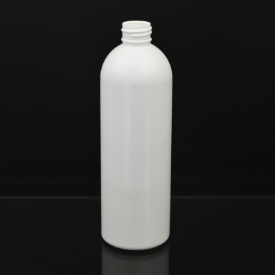 10 oz 24/410 Royalty Round White HDPE Bottle
