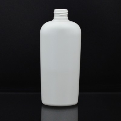 12 oz 24/410 Classic Oval White HDPE Bottle