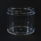 4 OZ 70/400 Thick Wall Straight Base Clear PS Jar - 140/Case