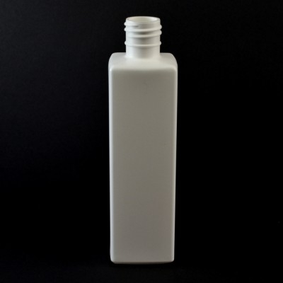 12 oz 28/415 Oblong Square White HDPE Bottle