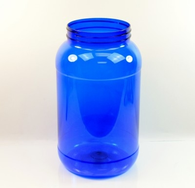 1 Gallon 110mm Cobalt Round PET Jar