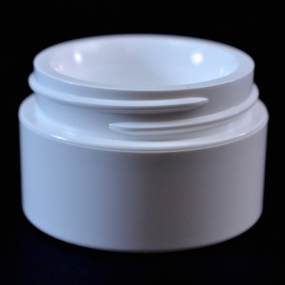 1/2 oz 48/400 Double Wall Straight Base White PP Jar