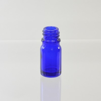 5 ml Euro Dropper 18-DIN Cobalt Glass Bottle