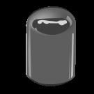 E5 Silver Phenolic Dome Cap F217
