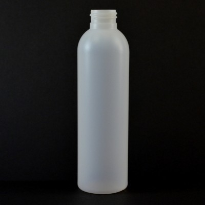 6 oz 24/410 Imperial Round Natural HDPE Bottle