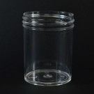 2 oz 53/400 Regular Wall Straight Base Clear PS Jar