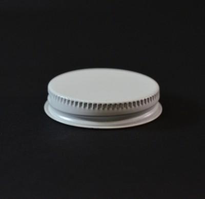45/400 CT White White Metal Continuous Thread Caps
