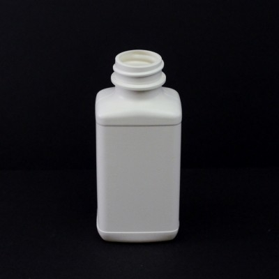 4 oz 28/400 White Blake Oblong HDPE Bottle