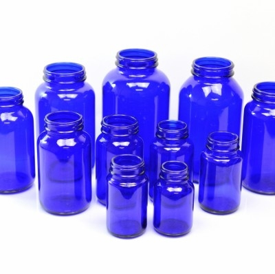 Cobalt Blue Glass Pharmaceutical Packers