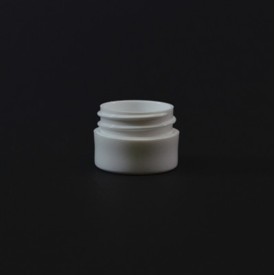 1/8 OZ 33/400 Thick Wall Straight Base White PP Jar - 1820/Case