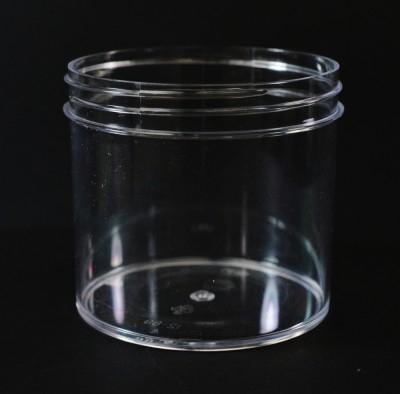 12 oz 89/400 Regular Wall Straight Base Clear PS Jar