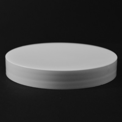 100/400 White Smooth Straight PP Cap / Unlined - 256/Case