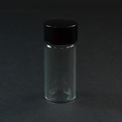 2 1/3 DRAM Screw Thread Clear Glass Vial 18/400