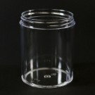 16 oz 89/400 Clear Thick Wall Straight Base PS Jar