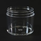 3 OZ 58/400 Thick Wall Straight Base Clear PS Jar - 396/Case