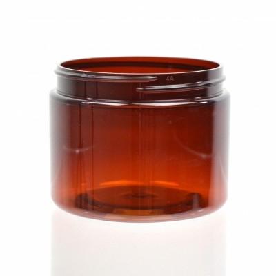 6 oz 70/400 Wide Mouth Amber PET Jar