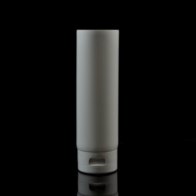 6 oz White MDPE Tube 2 X 5 1/2 with White Smooth Fliptop