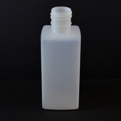 8 oz 28/415 Oblong Square Natural HDPE Bottle