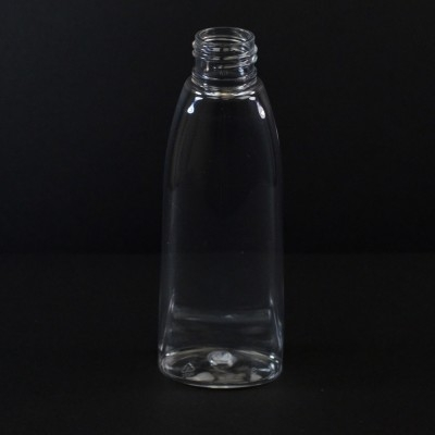 4 oz 24/410 Tear Oval Clear PET Bottle