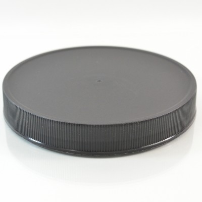 120/400 Black Ribbed Straight PP Cap / PS Liner - 228/Case