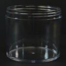 8 oz 100/400 Heavy Wall Low Profile Clear PETG Jar